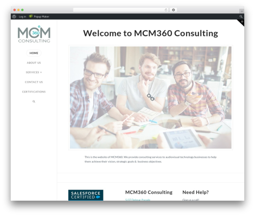 WordPress theme X - mcm360.com