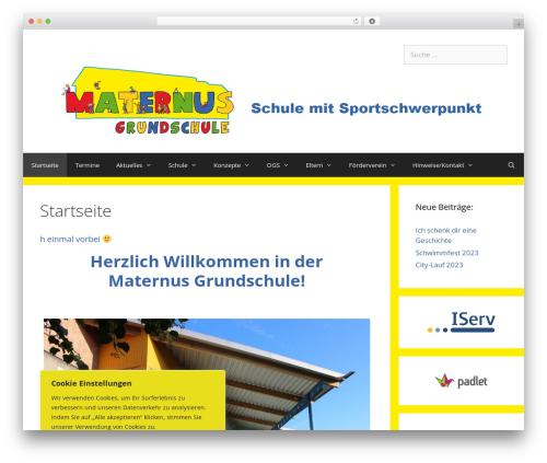 WP theme GeneratePress - maternus-schule.de