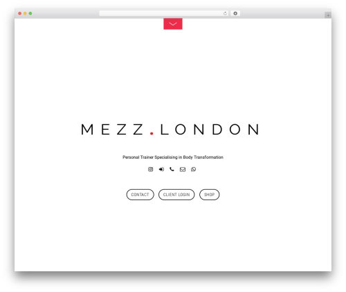 WP theme Themify Fullpane - mezz.london