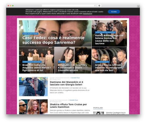 ADMAG WordPress blog template - mondogossipblog.com