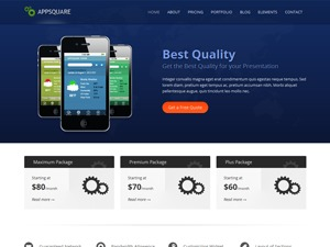 AppSquare WordPress template for business