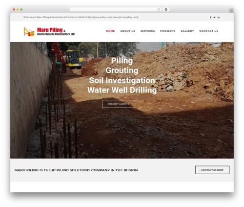 Artcore WordPress page template - marupiling.com