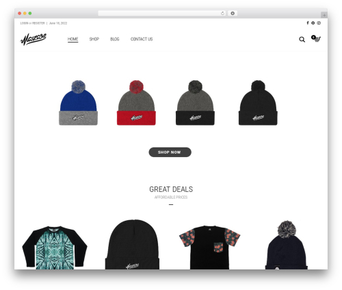 Aurum WordPress website template - mazareclothing.com