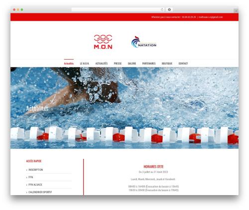 Avada template WordPress - mulhouse-natation.com