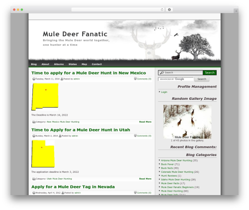 Best WordPress theme Lonelytree - muledeerfanatic.com