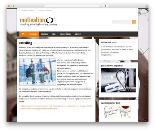 BrickYard WordPress website template - motivation-company.nl