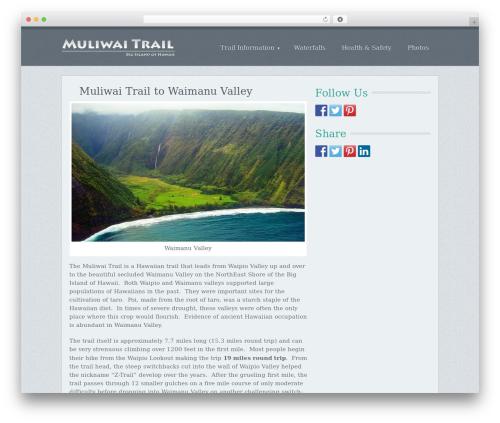 Chronology by MyThemeShop WordPress ecommerce theme - muliwaitrail.com