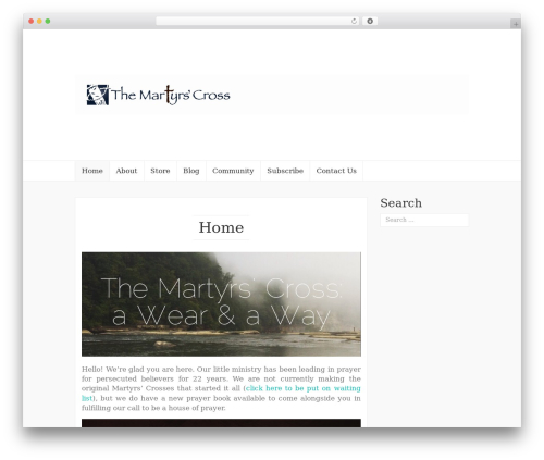 Coeur free WordPress theme - martyrscross.com