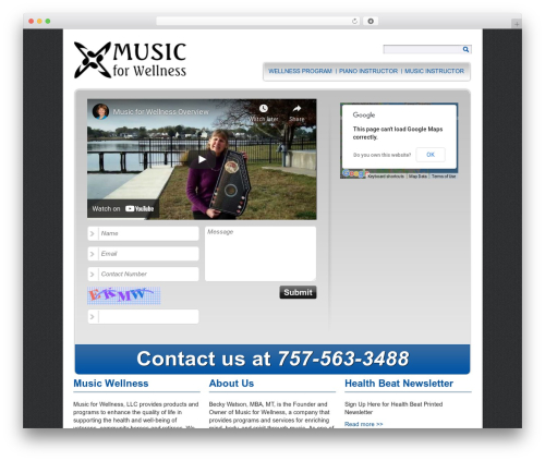 Easy WP Local theme WordPress - musicforyourwellness.com