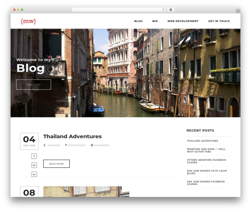 Engage WordPress blog theme - markwooff.com