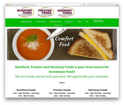 Genesis food WordPress theme - myharmonyfoods.com