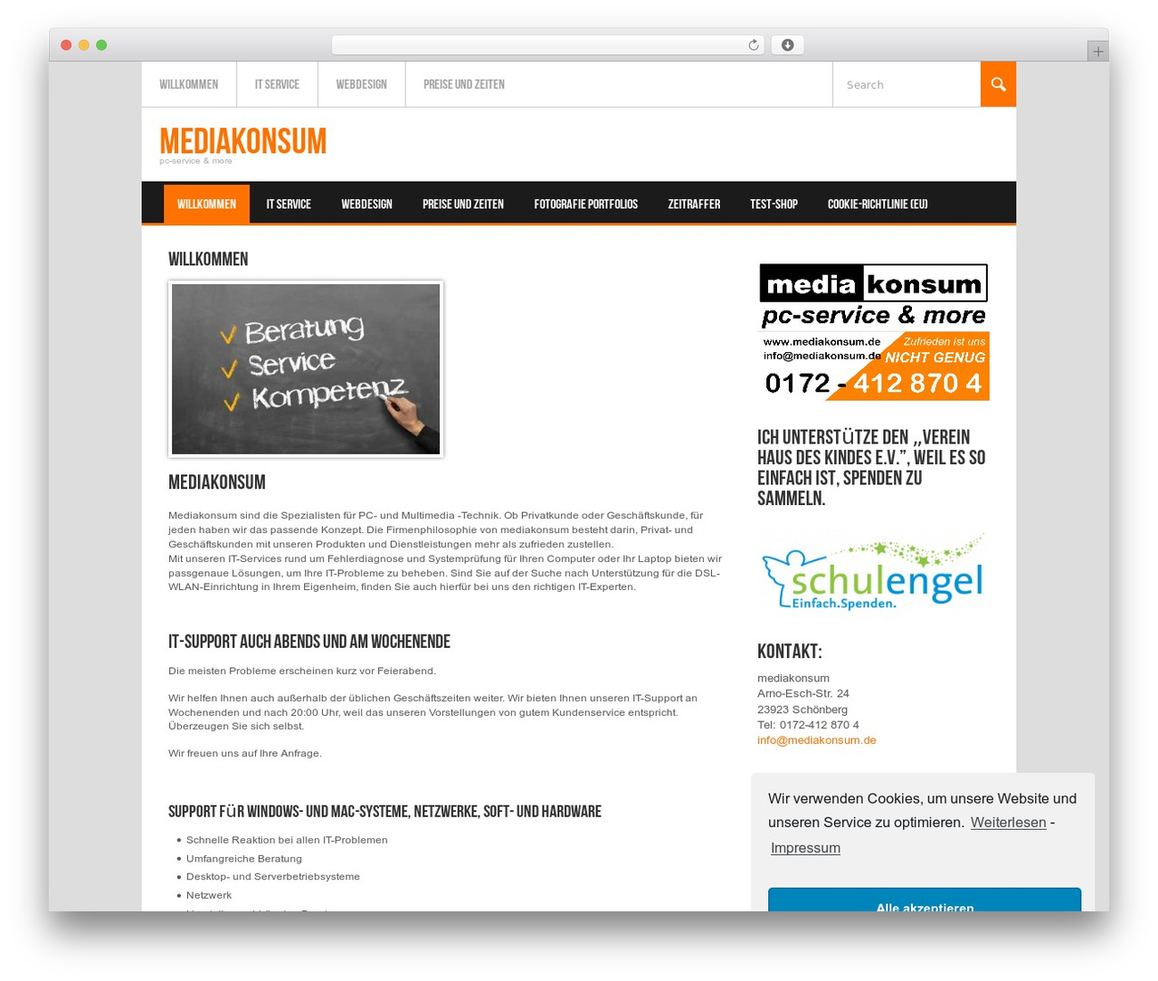 Koenda best WordPress template - mediakonsum.de
