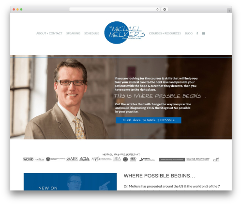 Madison WordPress page template - michaelmelkers.com