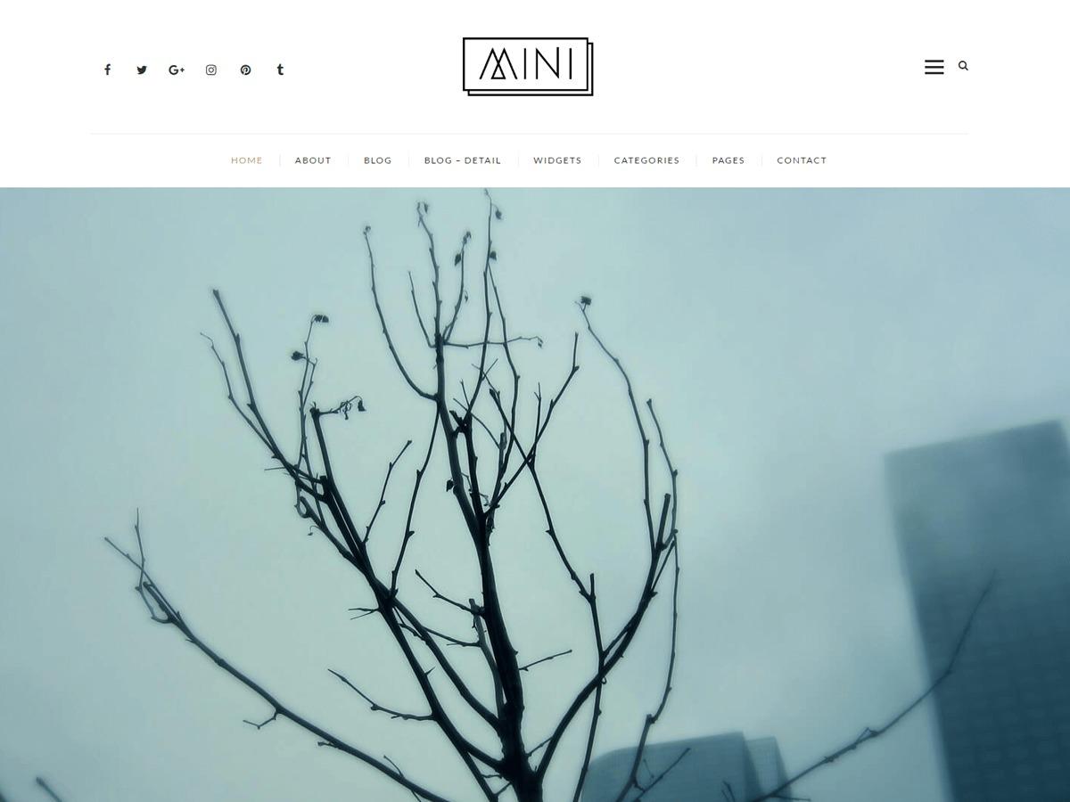 Mini Blog WordPress blog theme