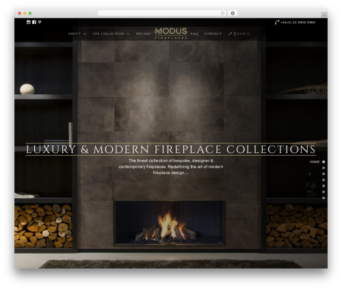 MODUS best WordPress template - modusfireplaces.com