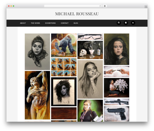Museum best WordPress template - mrousseau.com