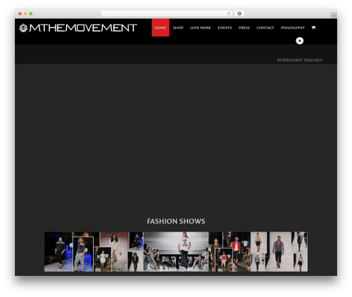 NOO Wemusic fashion WordPress theme - mthemovement.com