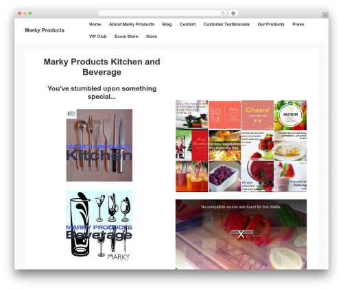 Responsive template WordPress - markyproducts.com
