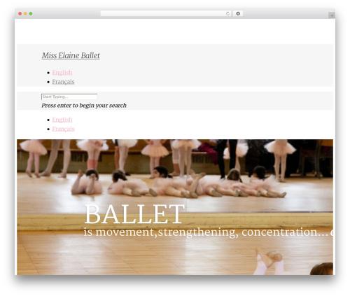 Salient WordPress page template - misselaineballet.com