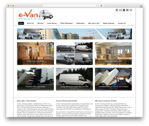 Simple Grid Theme Responsive WordPress template for business - manwithavandublin.ie