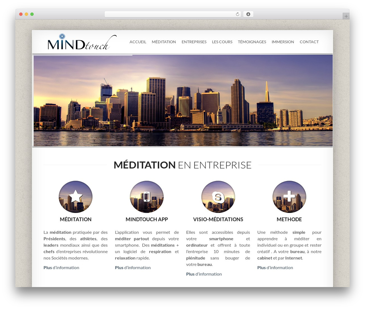 Smartbox template WordPress - mindtouch.ch