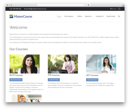 The7 WordPress page template - mastercourse.com.au