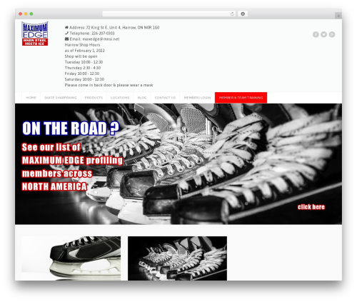 Theme WordPress GoalKlub - maximumedge.ca