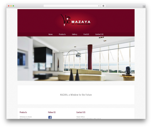 Theron Lite WordPress page template - mazaya-upvc.com