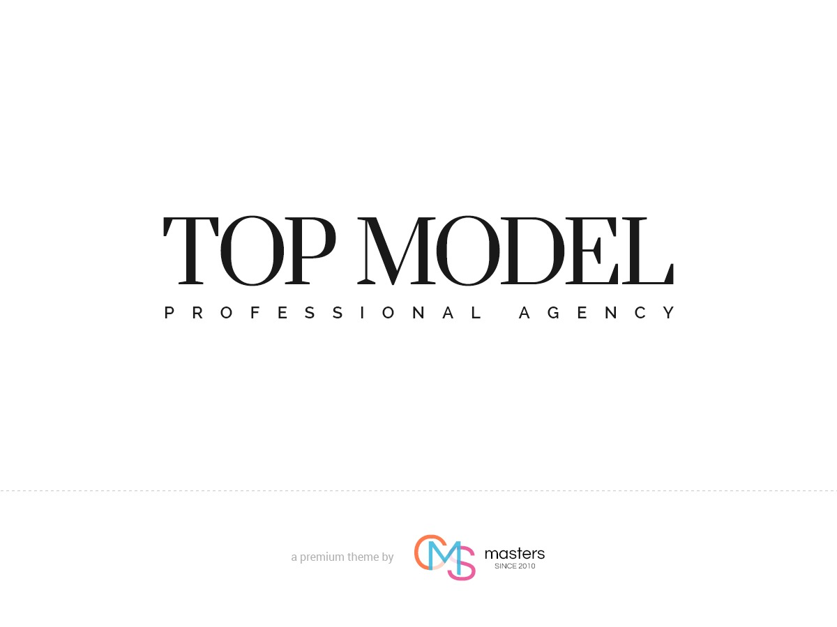 Top Model personal blog WordPress theme