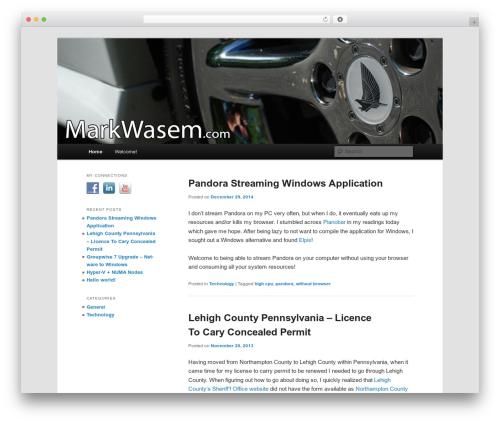 Twenty Eleven free WordPress theme - markwasem.com