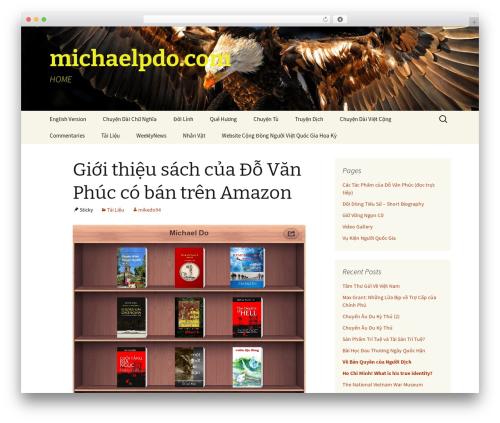 Twenty Thirteen best free WordPress theme - michaelpdo.com