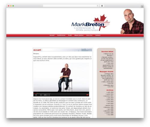 WordPress Default Fr best WordPress theme - markbreton.ca/blog