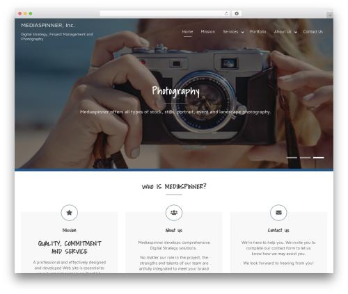 WordPress template Bizlight Pro - mediaspinner.com