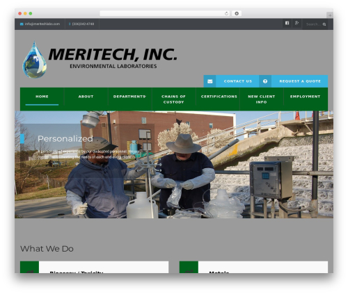 WordPress template WP Industry Theme - meritechlabs.com