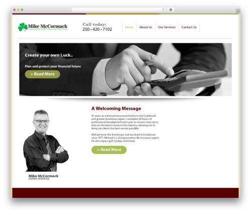 WordPress website template Michael McCormack - michaelmccormack.ca