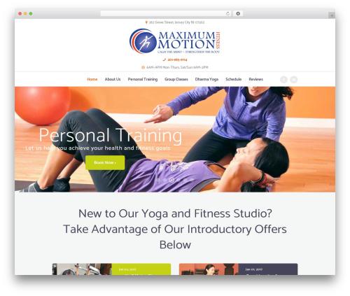 YogaStudio theme WordPress - maximum-motion.com