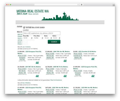 AgentPress Two real estate template WordPress - medinarealestatewa.com