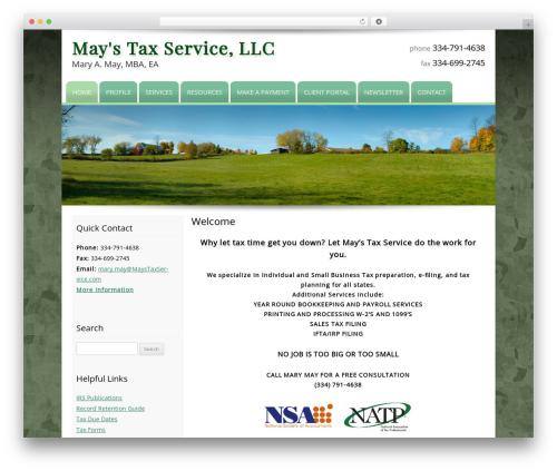 Customized premium WordPress theme - maystaxservice.com