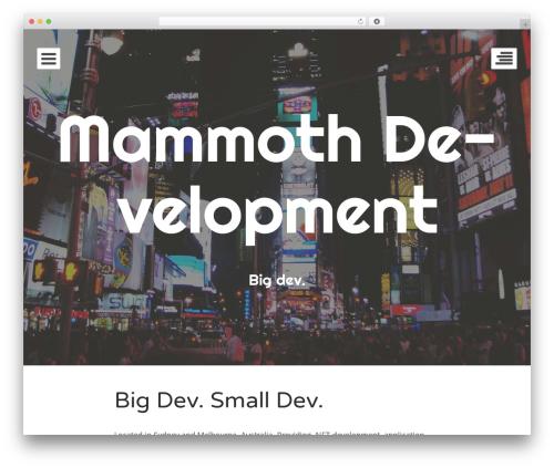 Eighties WordPress free download - mammothdev.com