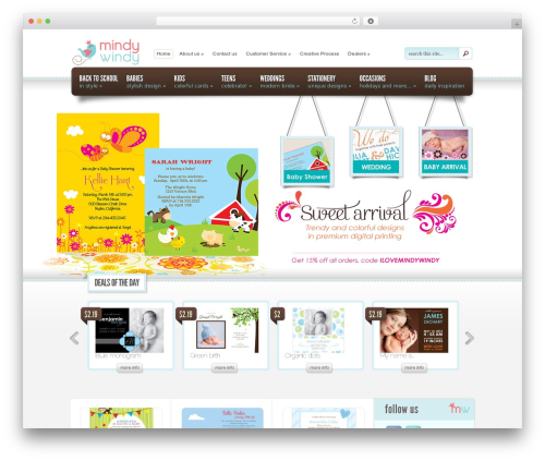 eStore WordPress ecommerce theme - mindywindy.com