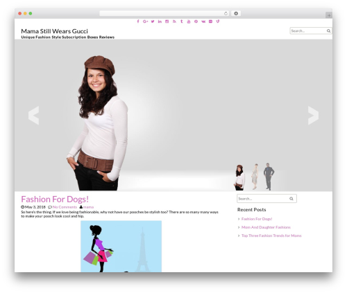 fFashion free WP theme - mamastillwearsgucci.com