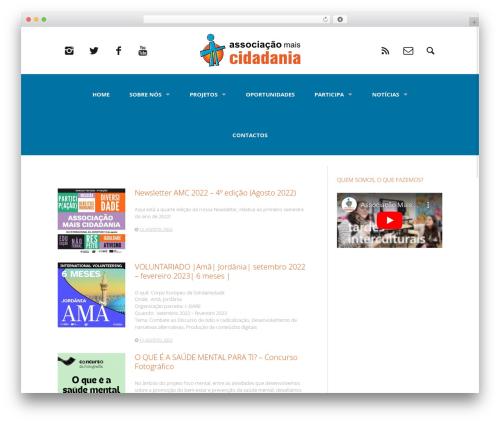Heap WordPress theme - maiscidadania.pt