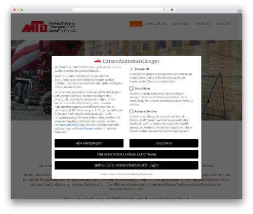 Megalith template WordPress - mtb-transportbeton.de