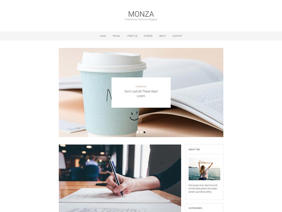 monza WordPress photo theme