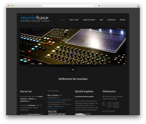 Music Pro WordPress theme - musicbase.ch