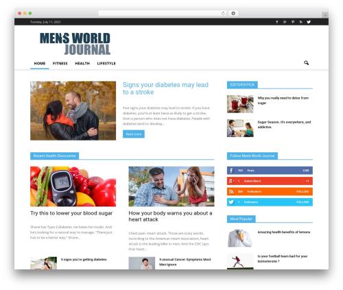 Newspaper WordPress news theme - mensworldjournal.com