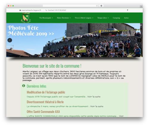 Nimva best WordPress theme - merle-leignec.fr
