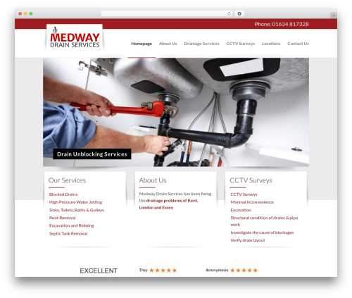 Plus top WordPress theme - medwaydrainservices.co.uk