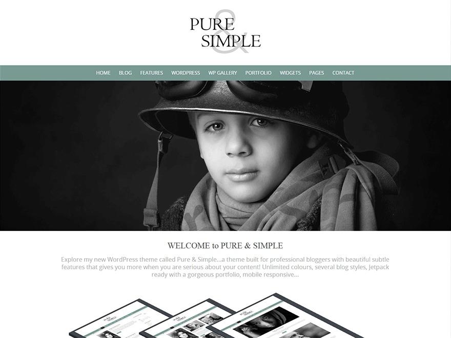Pure & Simple Pro theme WordPress portfolio
