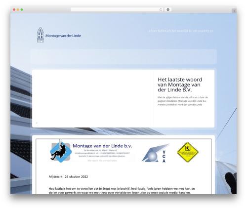 RT-Theme 14 theme WordPress - montagevdlinde.nl
